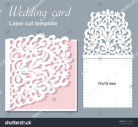 cut pro wedding templates vector die laser cut wedding card stock vector 401550901