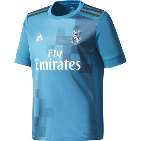 Jersey Real Madrid 3rd 1718 adidas real madrid 17 18 third jersey youth teal