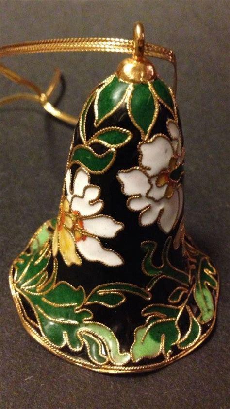 vintage antique collectible floral cloisonn 233 ornament bell