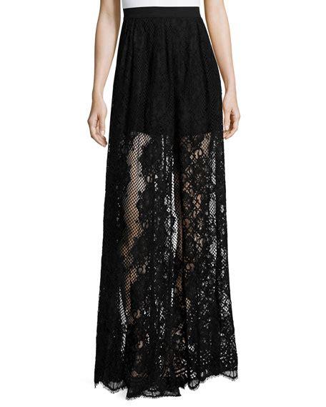 lucrenzia high waist lace maxi skirt black
