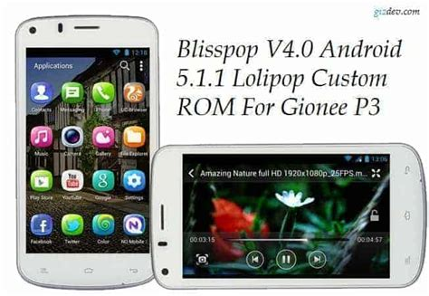 themes for android gionee blisspop v4 0 android 5 1 1 lolipop custom rom for gionee p3