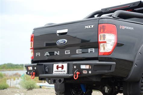 Shockbreaker Ford Ranger Rear rear bumper steel hamer led l matte black hook fit ford ranger t6 2012 2017 ebay