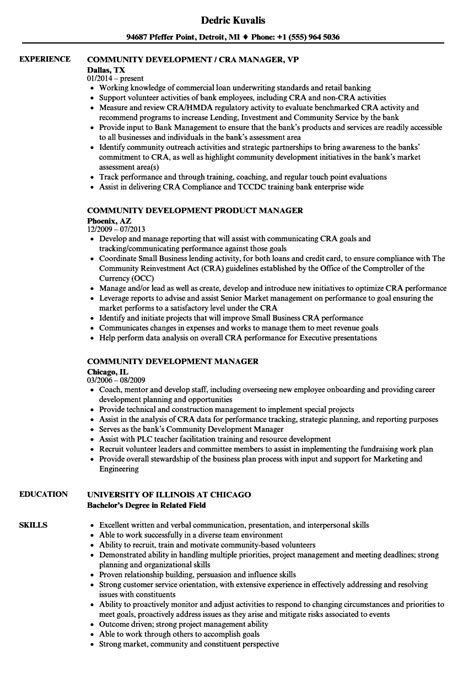 community manager community development resume sles