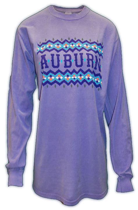 violet comfort colors tribal auburn long sleeve violet tiger rags t shirts
