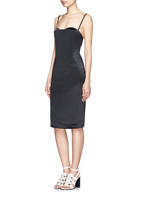 Thelma Dress acne studios thelma satin bustier dress in black lyst