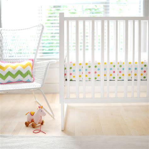 polka dot in rainbow crib sheet by new arrivals inc