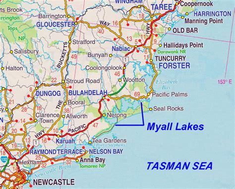 lakes in australia map myall lakes location information nsw australia