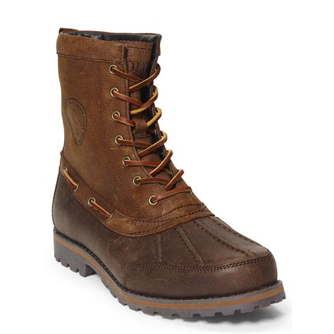 polo boots polo ralph whitsand leather boot in brown for