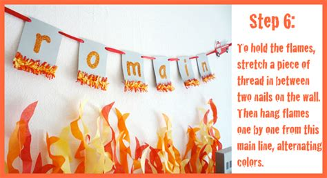How To Make Tissue Paper Flames - five alarm guest dessert feature tissue backdrop