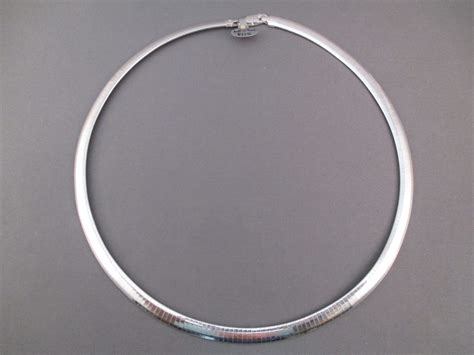 sterling silver omega necklace two grey