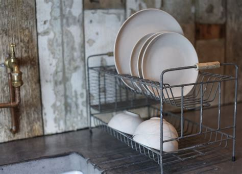 Industrial Dish Drying Rack by Industrial Style Metal Dish Rack