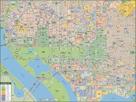 washington dc on a map washington dc downtown map digital creative
