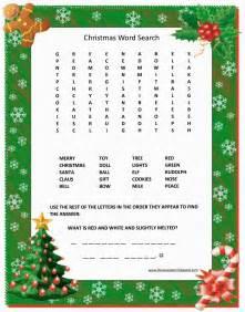 Free Christmas Word Search Printable » Home Design 2017