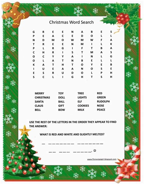 free printable christmas word search activities florassippi girl christmas word search free printable