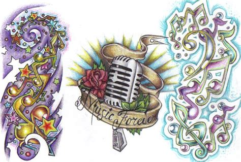 tattoo flash music by cynthiardematteo on deviantart