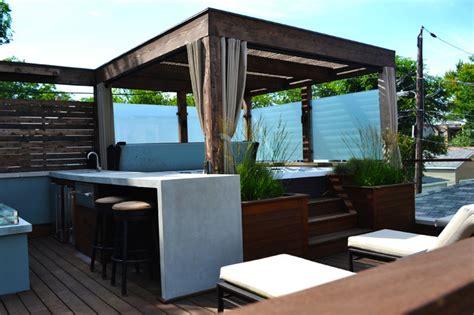 hot tub retreat contemporary deck chicago