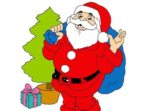 imagenes de santa claus y la navidad dibujo de santa claus y un 225 rbol de navidad pintado por