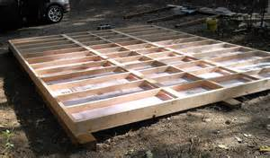 build shed floor on skids