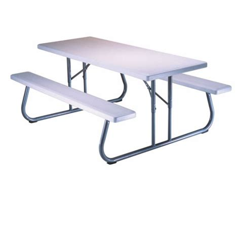 Lifetime 6ft Folding Table Lifetime Picnic Tables 80215 Folding Picnic Table 6 Ft White Top