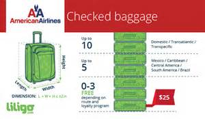united check in luggage baggage policies for american airlines liligo