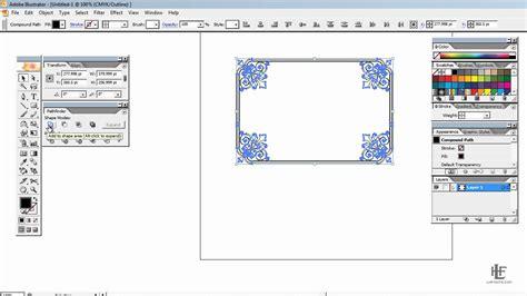 adobe illustrator create border pattern creating custom borders using adobe illustrator youtube