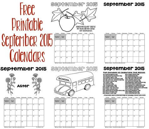 printable calendars september 2015 printable september 2015 calendars holiday favorites