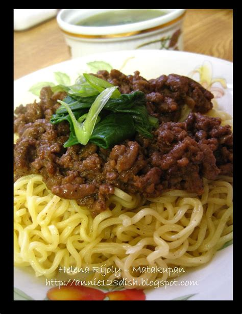annies    dish mie siram daging cincang noodle