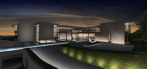Glass Facades private residence beverly hills ca oculus light studio