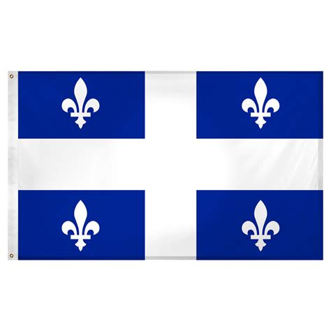 Buy Home Decor Online by Quebec Flag 3 X 5 Feet Super Knit Polyester Ebay