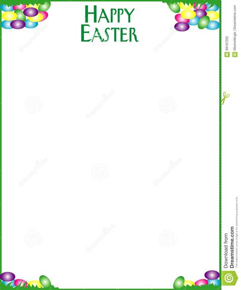 eps format borders happy easter border with vector format available vector