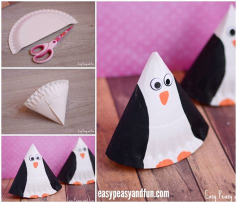 How To Make A Paper Plate Penguin - rocking paper plate penguin craft easy peasy and
