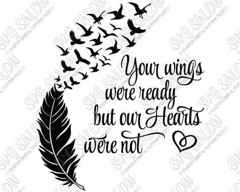 feather tattoo your wings were ready your wings were ready but our hearts were not feather and