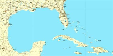 map usa and caribbean region map south east usa central america caribbean
