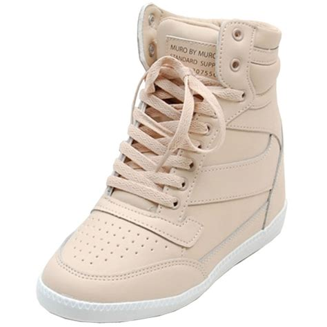 sneaker wedge heels epicsnob womens shoes high top wedges heel lace up
