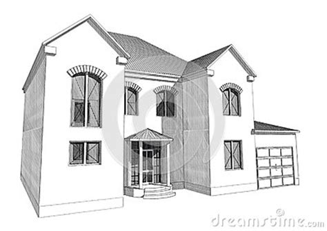 3d house drawing residential house 3d stock illustration image 66908142