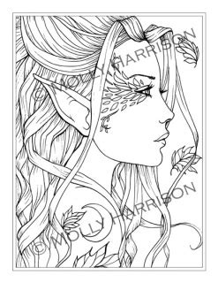 Halloween Art: Adult Halloween Coloring Pages by Molly