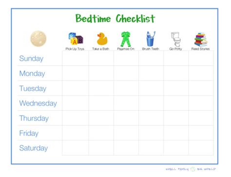 printable toddler bedtime routine chart 8 best images of printable bedtime routine checklist