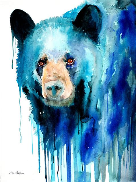 american black bear painting by slavi aladjova