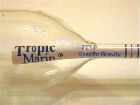 swing arm hydrometer figure 2 the tropic marin floating hydrometer showing