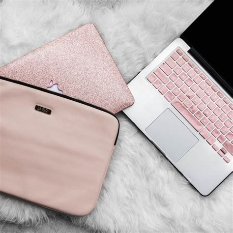 light pink apple laptop gold and blush pink macbook bundle pink laptop