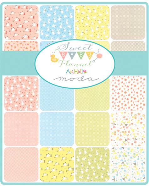 moda sweet baby flannels precut 5 quot charm pack fabric