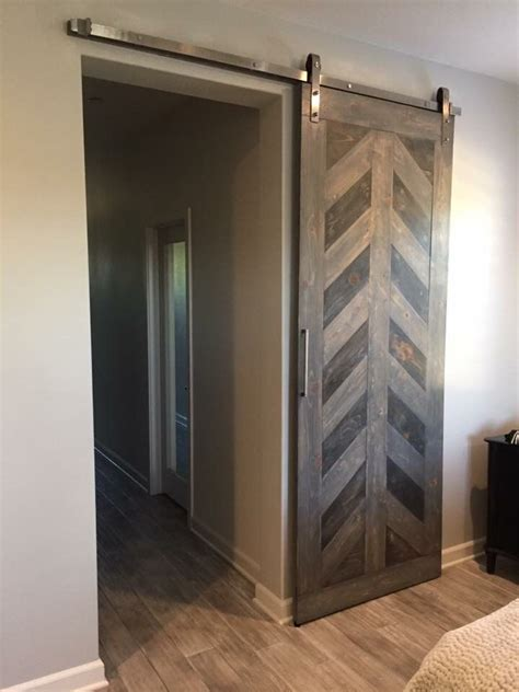 custom herringbone barn door wwwwatermanwoodworkscom