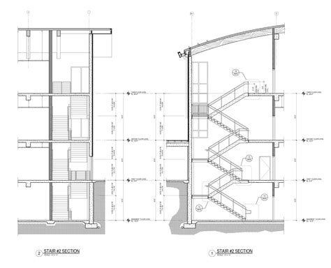 stairs in section drawing stairs doarch 252 design practice iv