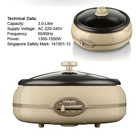 Takahi Cooker 5 2 L takahi electric multi function cooker steamboat 1400 3 0l