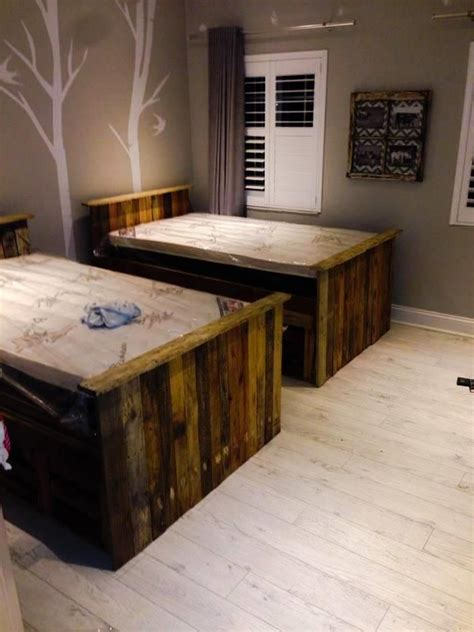 diy pallet bed with storage tutorial 187 best images about ideas for rooms on duvet covers duvet and beds with storage