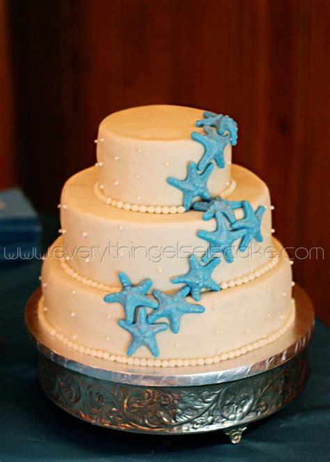 Bridal Shower Cakes Blue Starfish Wedding Cake Everything Else Is Cake