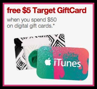 10 Dollar Itunes Gift Card Walgreens - target com free 5 target gift card w 50 egift card purchase itunes olive garden