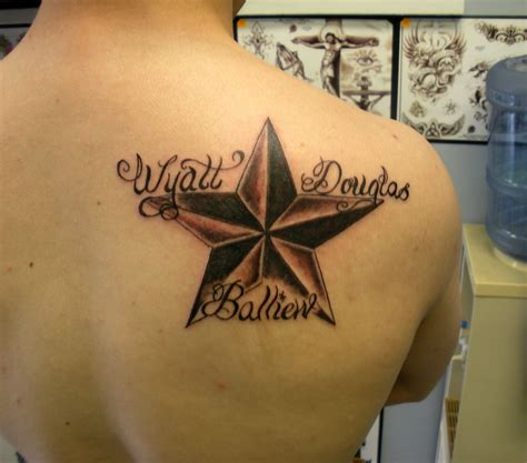 54 star tattoos ideas for men nautical star with name by painlessjames on deviantart