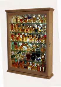 Curio Cabinet Antique White Miniature Perfume Bottle Display Case Shadow Box Wall