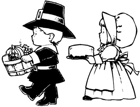 Thanksgiving Coloring Pages Thanksgiving Pilgrim Coloring Pages